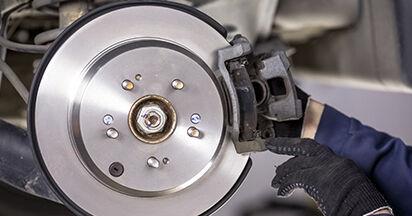Wie HONDA CR-V 2.4 i-VTEC 4WD (RE7) 2010 Bremsbeläge ausbauen - Einfach zu verstehende Anleitungen online