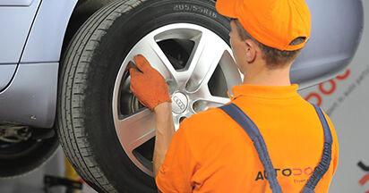 Wie Bremsbeläge AUDI A4 Avant (8ED, B7) 2.0 TDI 16V 2005 austauschen - Schrittweise Handbücher und Videoanleitungen