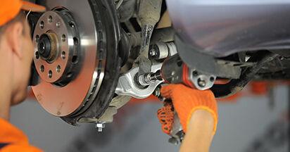 Audi A4 b7 2.0 TDI 16V 2006 Ammortizzatori sostituzione: manuali dell'autofficina