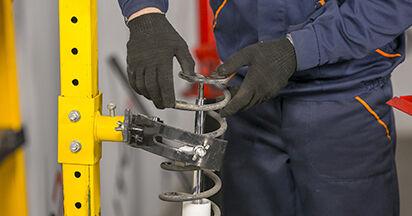 Stoßdämpfer beim MITSUBISHI COLT 1.5 Ralliart R 2009 selber erneuern - DIY-Manual