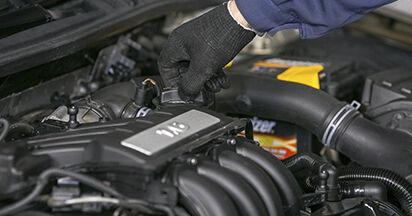 Austauschen Anleitung Ölfilter am Octavia 1z5 2004 1.9 TDI selbst