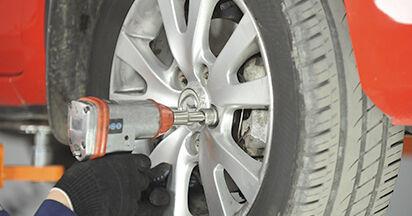 Austauschen Anleitung Federn am Mazda 3 bk 2006 1.6 selbst