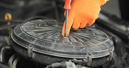 Luftfilter Audi 80 b4 1.9 TDI 1993 wechseln: Kostenlose Reparaturhandbücher