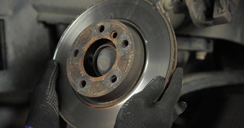 Wie schwer ist es, selbst zu reparieren: Bremsscheiben BMW E36 Compact 316g 1.6 2000 Tausch - Downloaden Sie sich illustrierte Anleitungen
