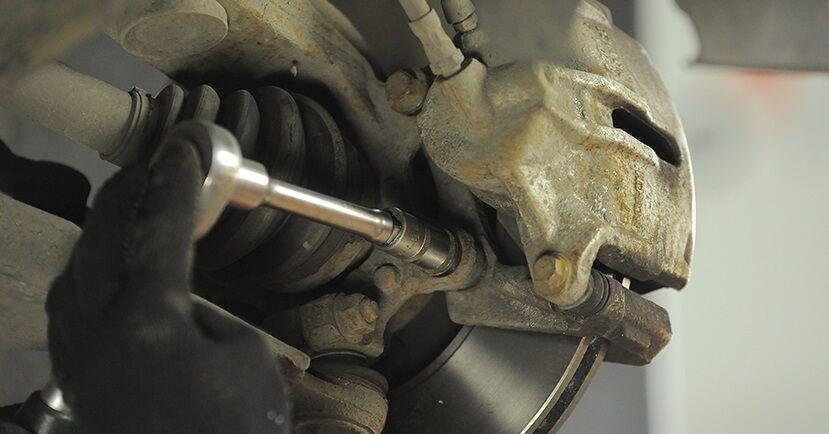 Hvor lang tid tager en udskiftning: Bremseskiver på Ford Mondeo mk3 Sedan 2000 - informativ PDF-manual