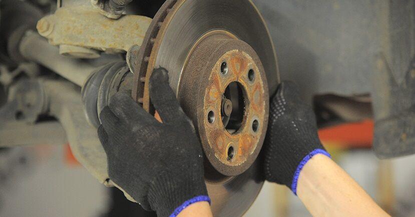 Hvordan man udskifter Bremseskiver på FORD MONDEO III Saloon (B4Y) 2005: hent PDF manualer og video instruktioner