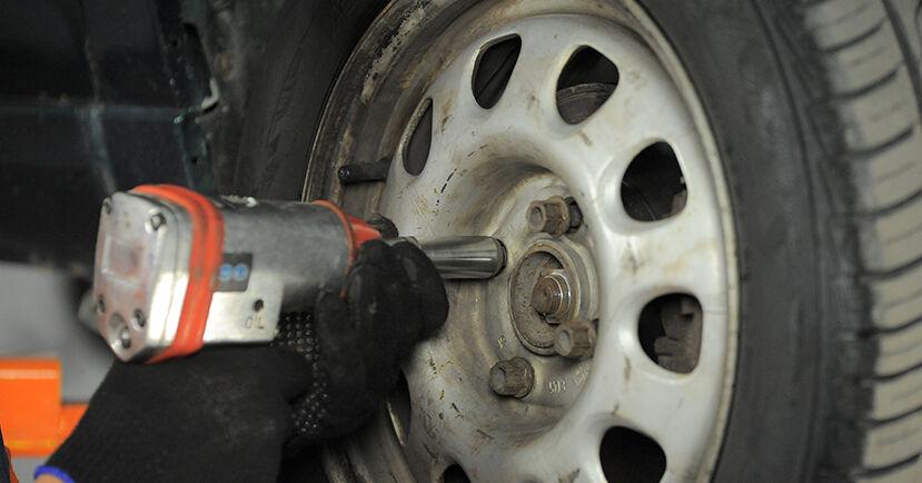 Wechseln Radlager am VW GOLF III Cabriolet (1E7) 1.9 TDI 1996 selber