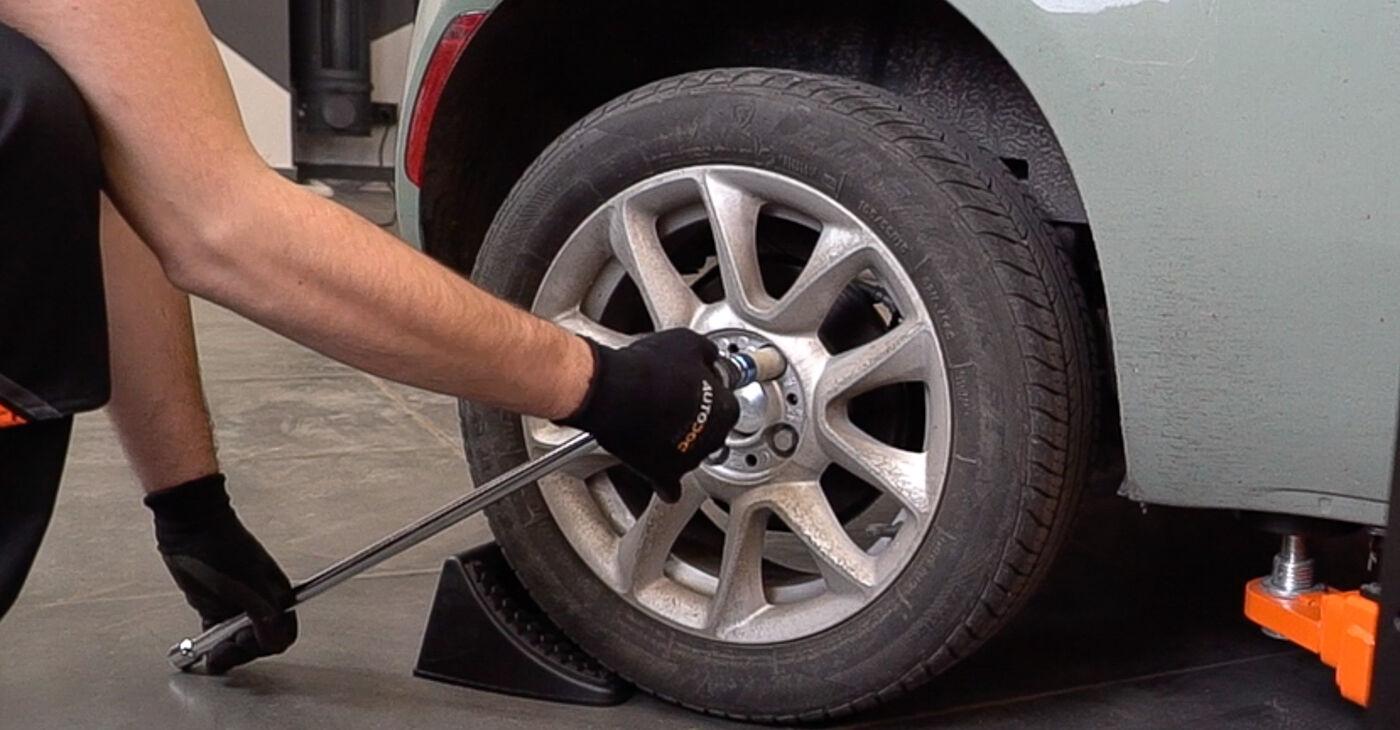 Смяна на Fiat 500 312 1.3 D Multijet 2011 Спирачни Накладки: безплатни наръчници за ремонт