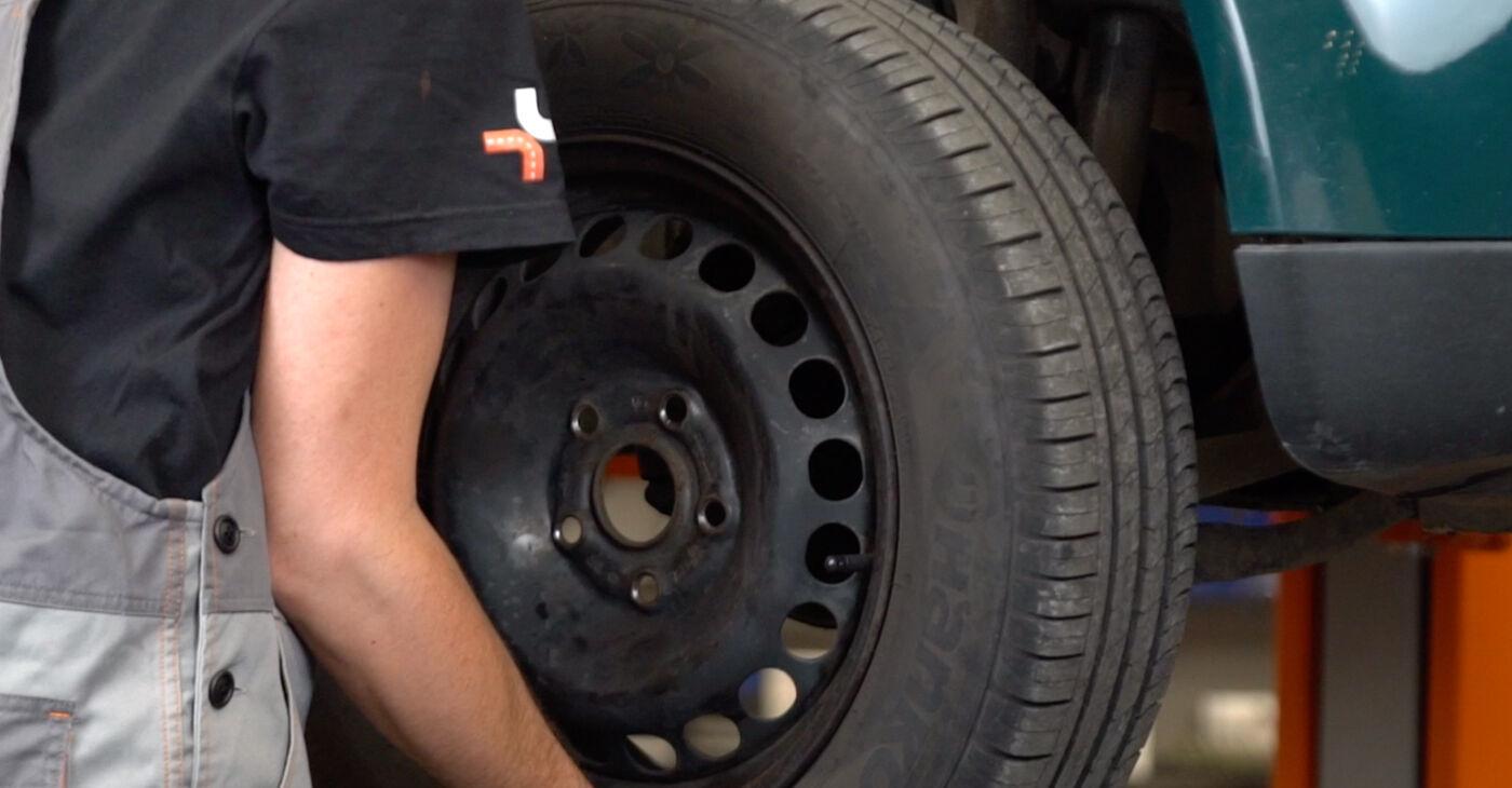 Πώς να αντικαταστήσετε Τακάκια Φρένων σε VW PASSAT Variant (3B6) 2005: κατεβάστε εγχειρίδια PDF και βίντεο οδηγιών