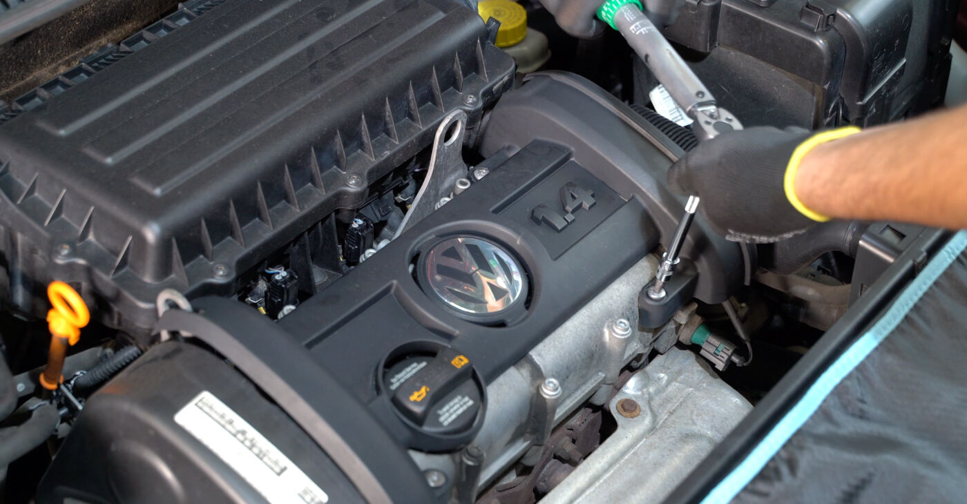 Patstāvīga VW POLO (9N_) 1.4 TDI 2003 Aizdedzes spole nomaiņa - tiešsaistes pamācība
