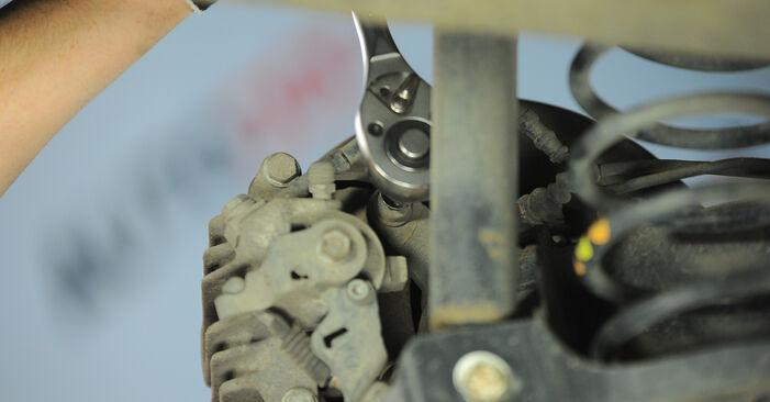 Quão difícil é efetuar a substituição de Discos de Travão no Polo 9n 1.4 16V 2007 por si mesmo - descarregue o guia ilustrado