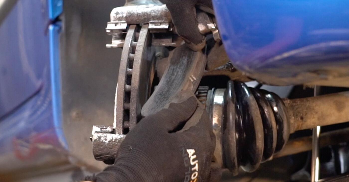Patstāvīga Peugeot 206 cc 2d 2010 1.6 16V Bremžu diski nomaiņa