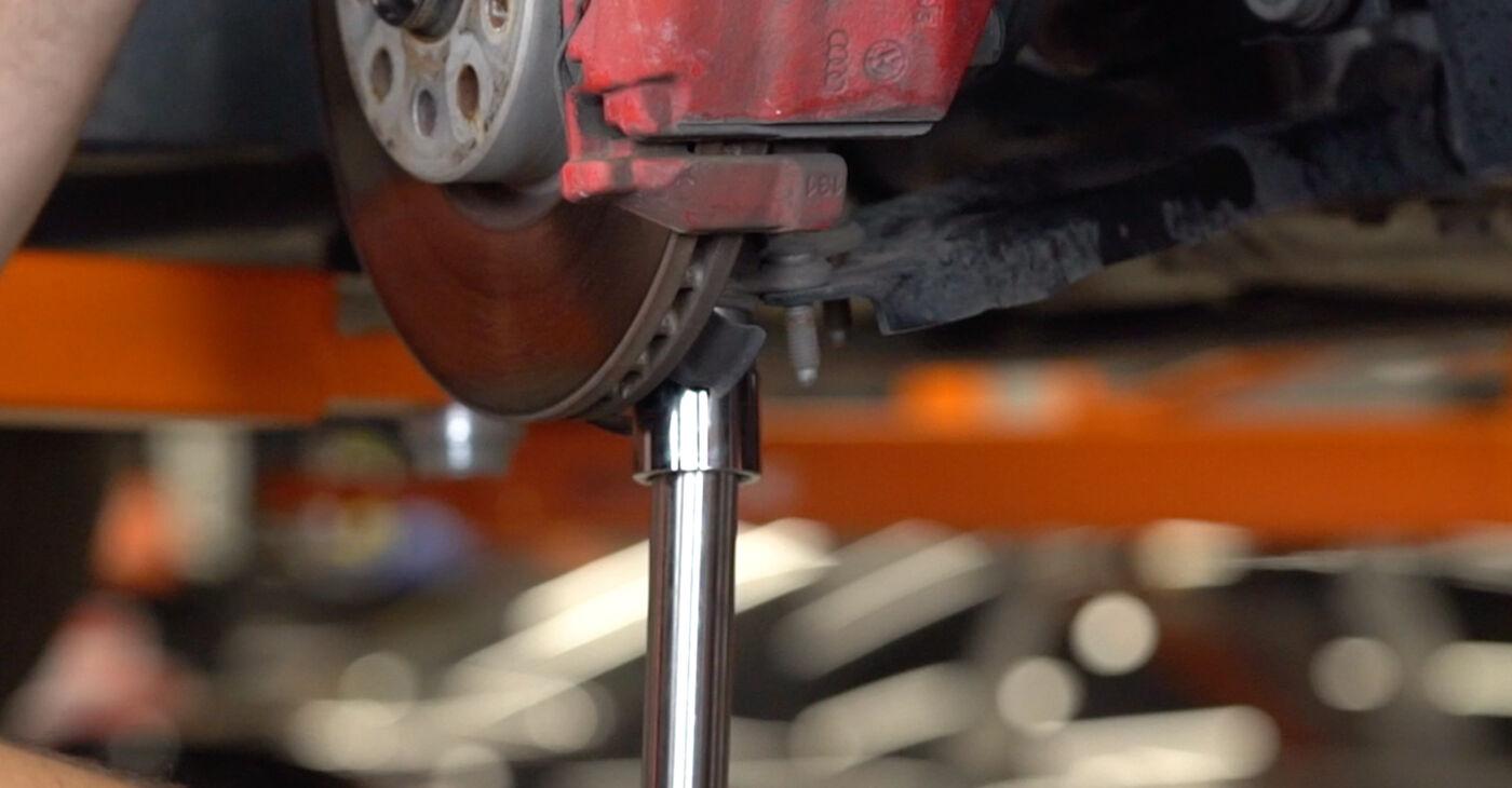 Kaip nuimti VW GOLF 1.4 2012 Amortizatoriaus Atraminis Guolis - nesudėtingos internetinės instrukcijos