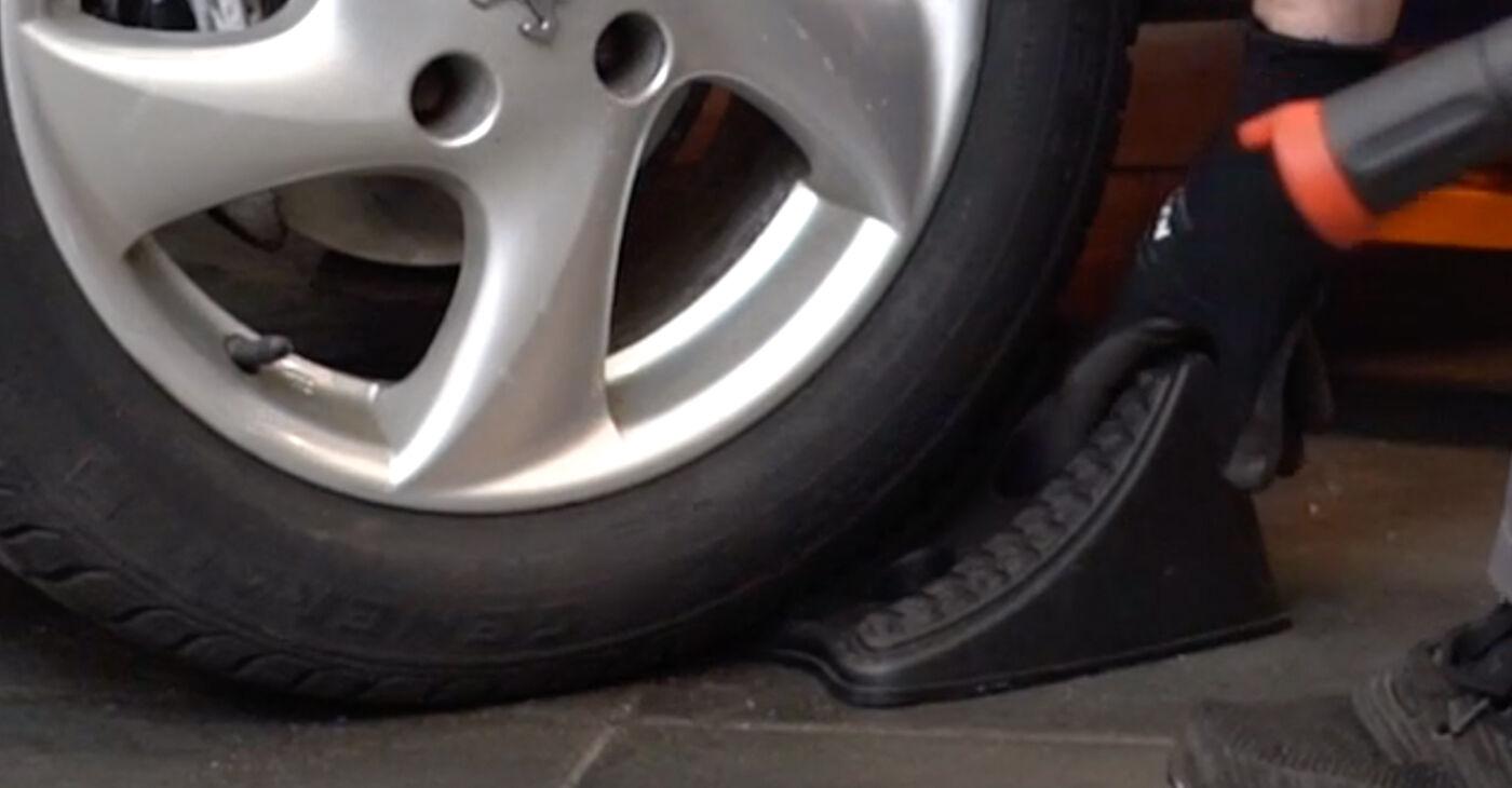 Смяна на Peugeot 206 cc 2d 2.0 S16 2000 Спирачен диск: безплатни наръчници за ремонт