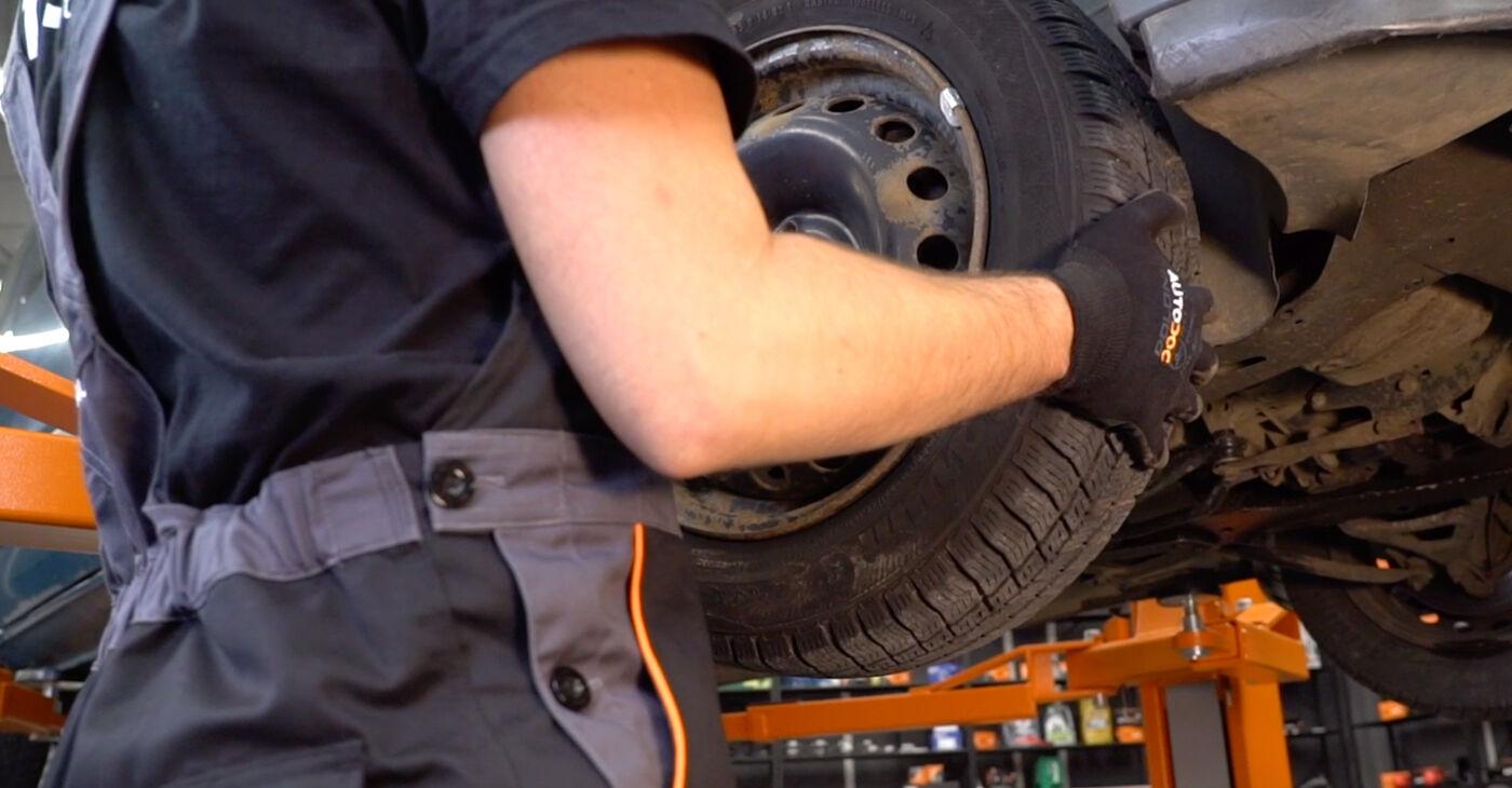 Pakāpeniski ieteikumi patstāvīgai Renault Kangoo kc01 2010 1.2 16V Amortizatoru Atbalsta Gultņi nomaiņai