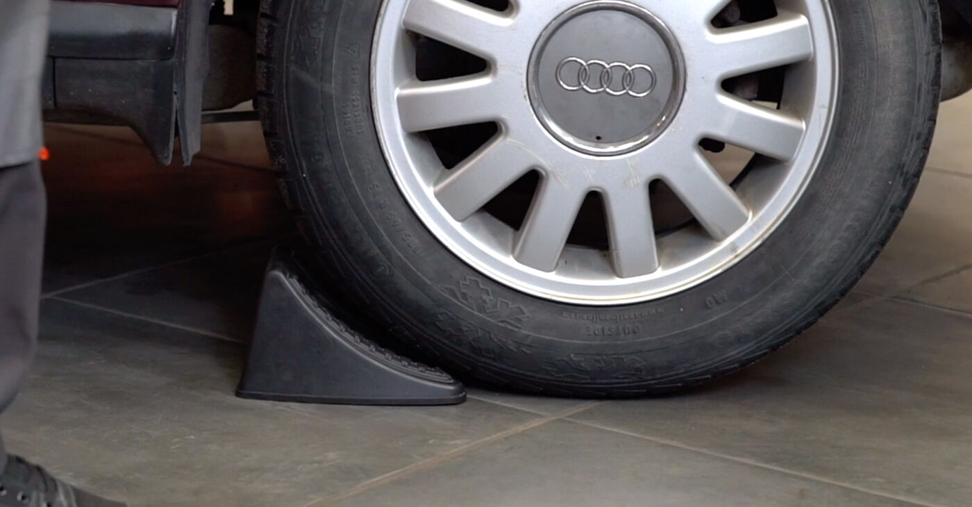 How to replace AUDI A3 (8L1) 1.9 TDI 1997 Brake Pads - step-by-step manuals and video guides
