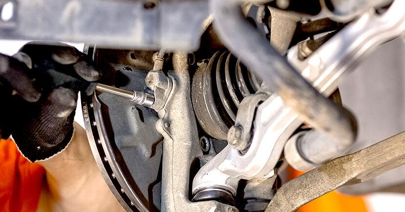 Hoe moeilijk is doe-het-zelf: Wiellager wisselen Audi A4 b6 2.5 TDI 2001 – download geïllustreerde instructies