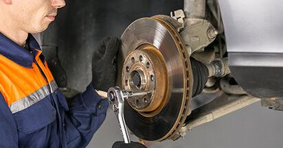 Kaip nuimti VW PASSAT 2.0 TDI 4motion 2009 Amortizatoriaus Atraminis Guolis - nesudėtingos internetinės instrukcijos