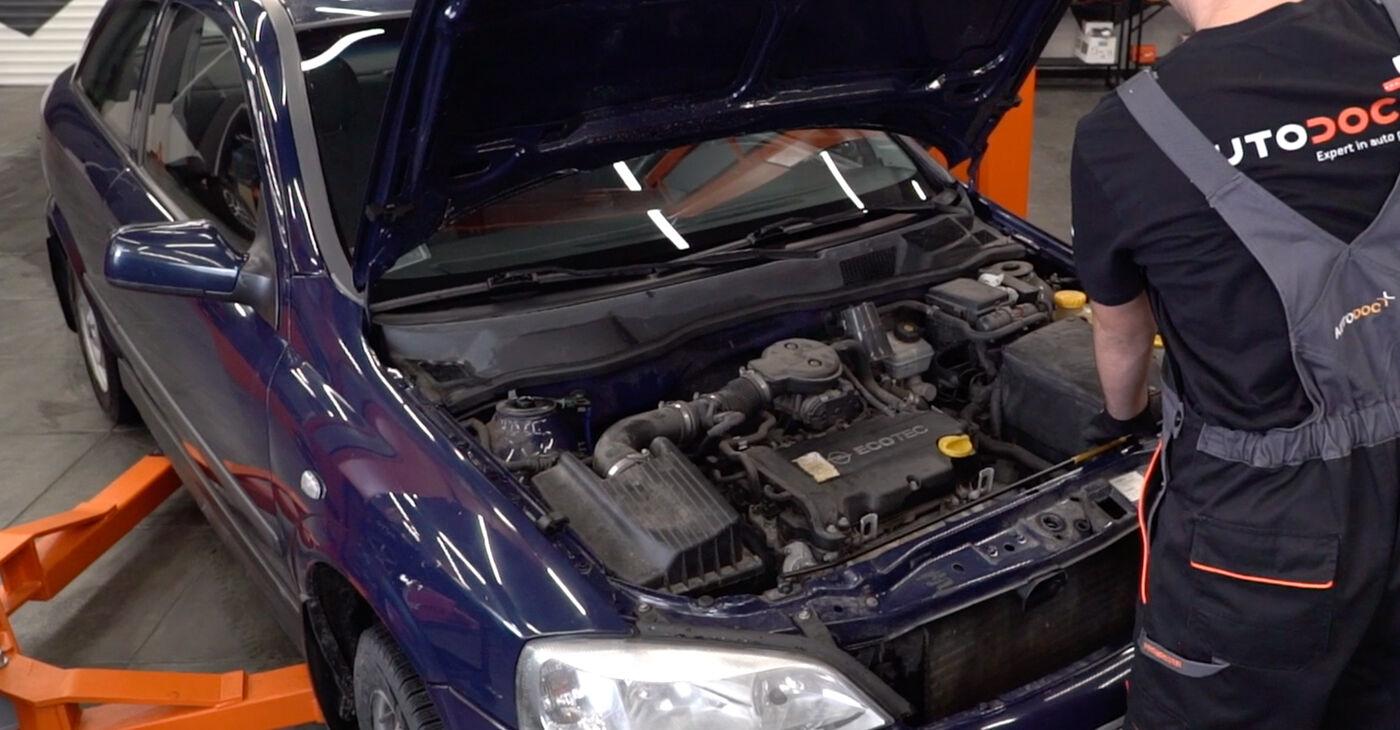 Kā nomainīt Motora stiprinājums Opel Astra g f48 1998 - bezmaksas PDF un video rokasgrāmatas