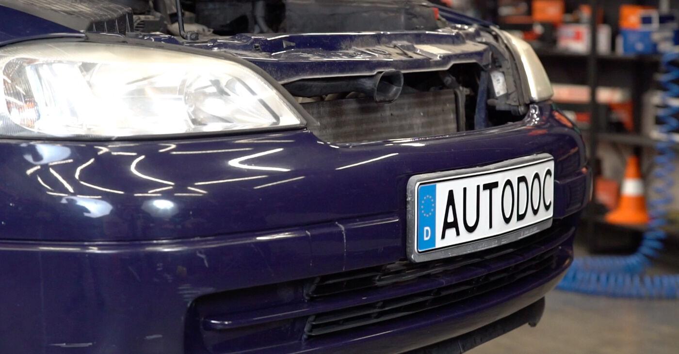 Pakāpeniski ieteikumi patstāvīgai Opel Astra g f48 1999 1.7 DTI 16V (F08, F48) Motora stiprinājums nomaiņai