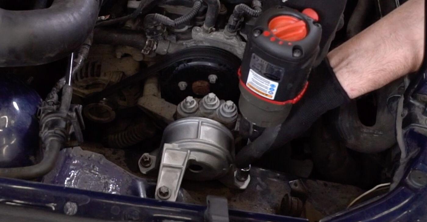Cik ilgu laiku aizņem nomaiņa: Opel Astra g f48 2006 Motora stiprinājums - informatīva PDF rokasgrāmata