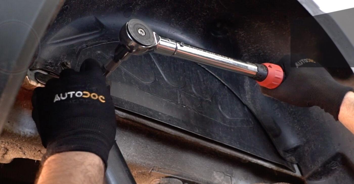 Cómo reemplazar Amortiguadores en un FIAT DOBLO Cargo (223) 1.9 JTD 2001 - manuales paso a paso y guías en video