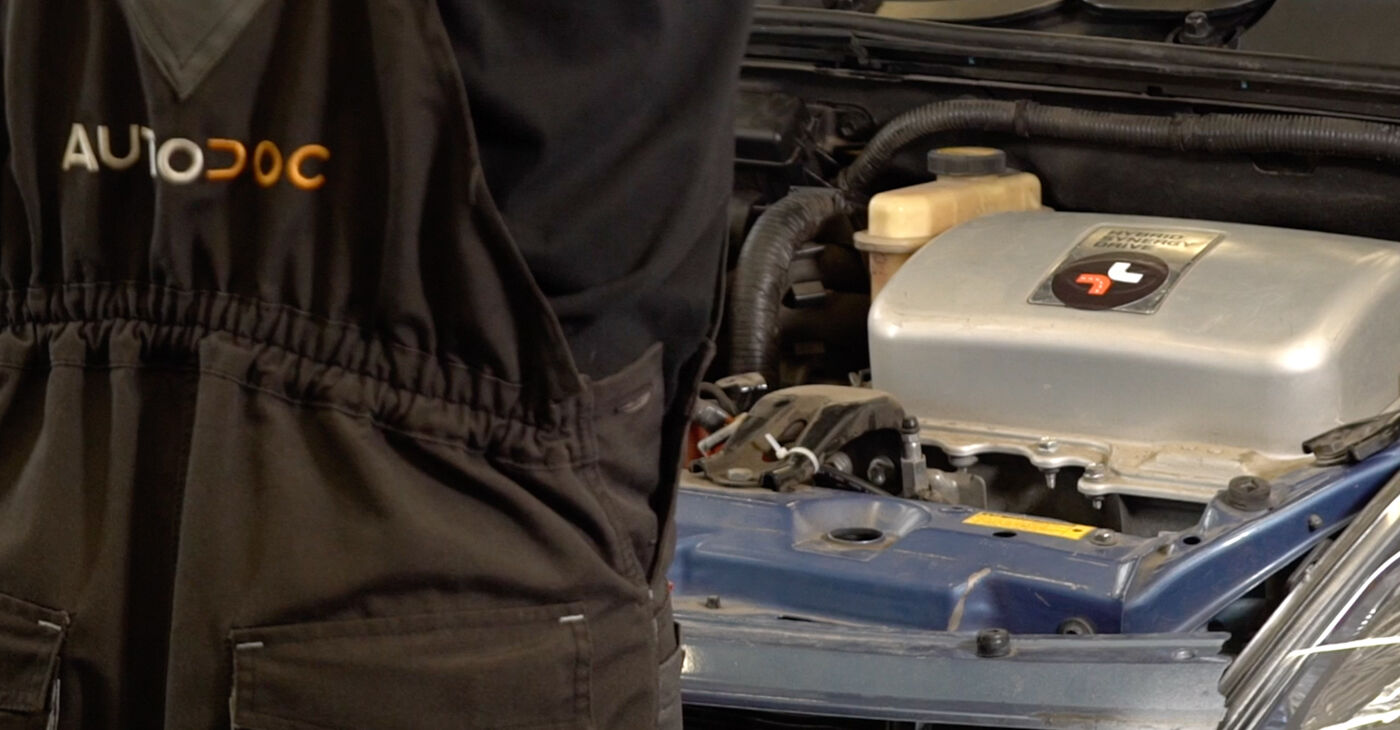 Kā nomainīt Bremžu diski Toyota Prius 2 2003 - bezmaksas PDF un video rokasgrāmatas