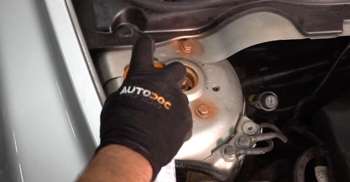 Wie lange benötigt das Auswechseln der Teile: Stoßdämpfer beim Volvo v50 mw 2011 - Detailliertes PDF-Tutorial