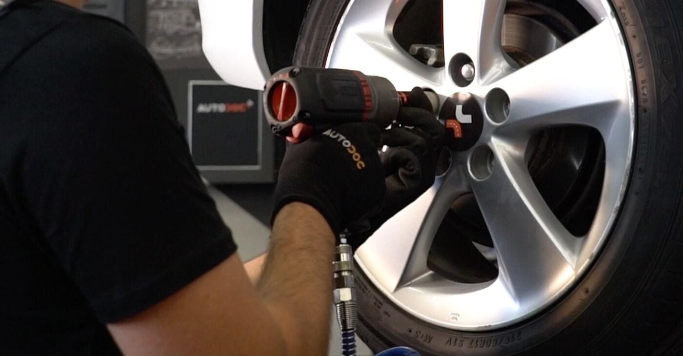 Substituição de Toyota Auris e15 2.0 D-4D (ADE150_) 2008 Amortecedor: manuais gratuitos de oficina