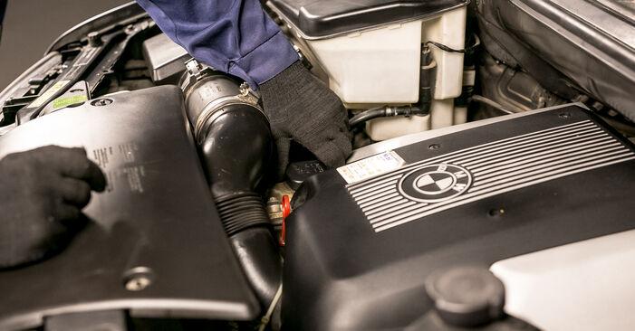 Cik grūti ir veikt Eļļas filtrs nomaiņu BMW E53 3.0 i 2006 - lejupielādējiet ilustrētu ceļvedi