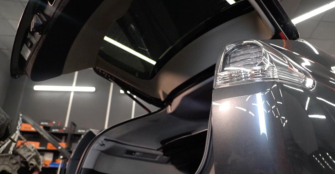 Kako zamenjati Blazilnik na Lexus RX XU30 2003 - brezplačni PDF in video priročniki