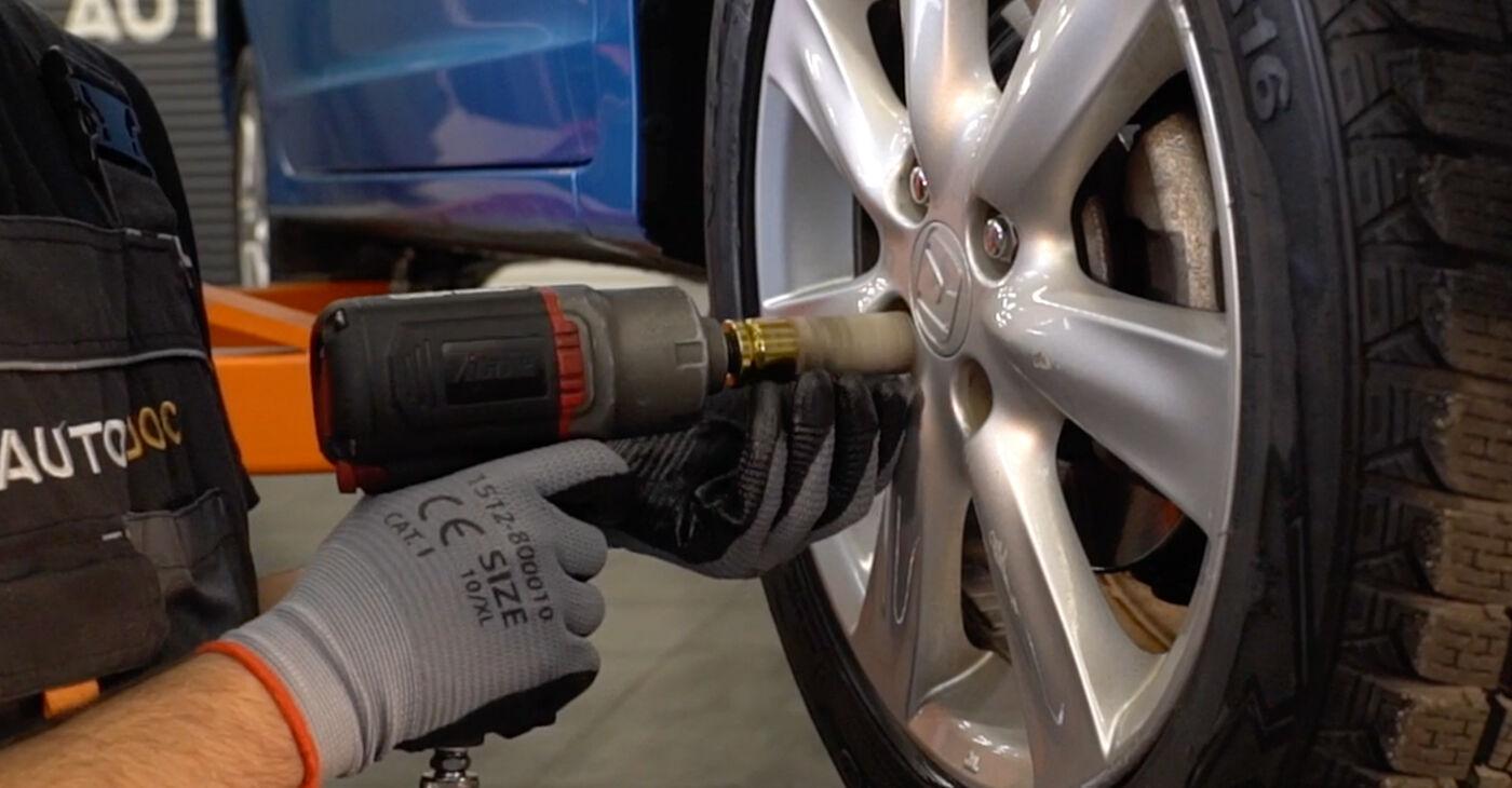 Patstāvīga HONDA INSIGHT (ZE_) 1.3 Hybrid (ZE2) 2012 Stūres šķērsstiepņa uzgalis nomaiņa