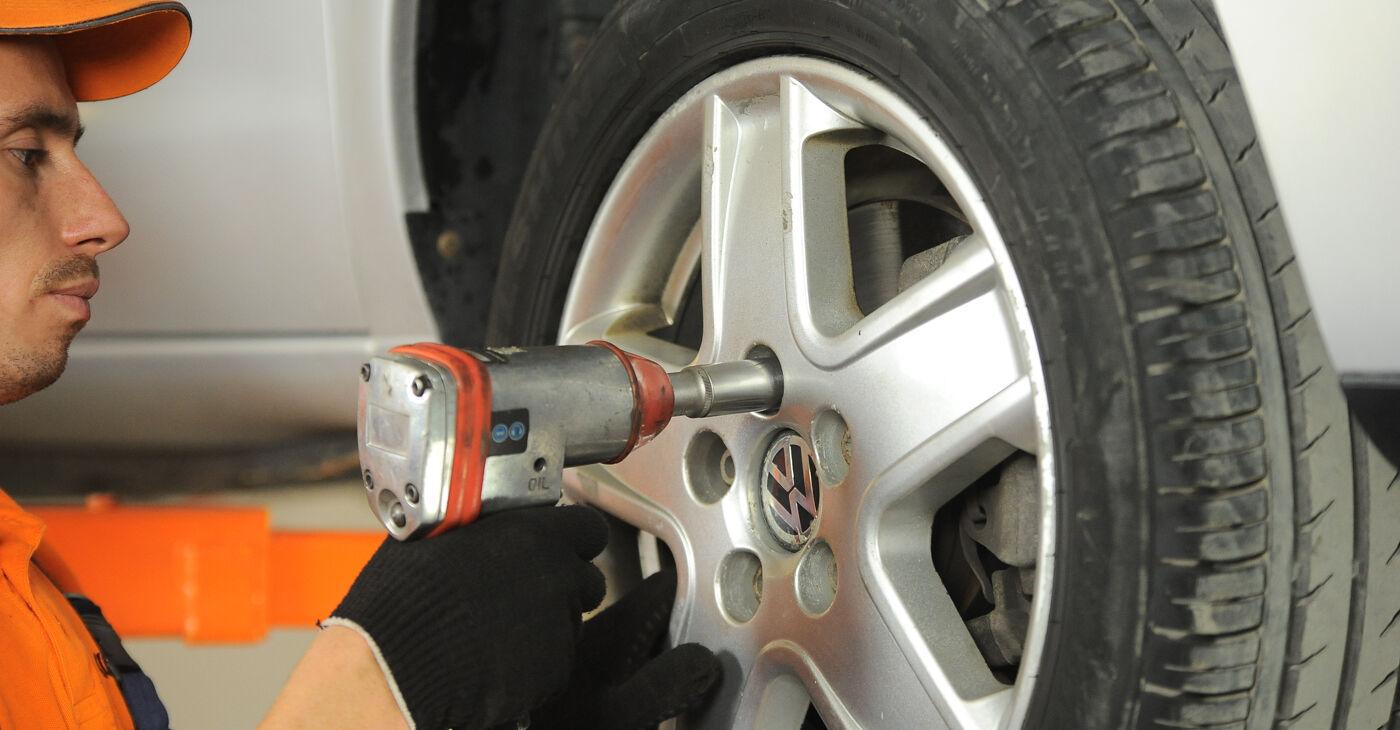 VW Sharan 1 2.0 TDI 1997 Rattalaager vahetamine: tasuta töökoja juhendid