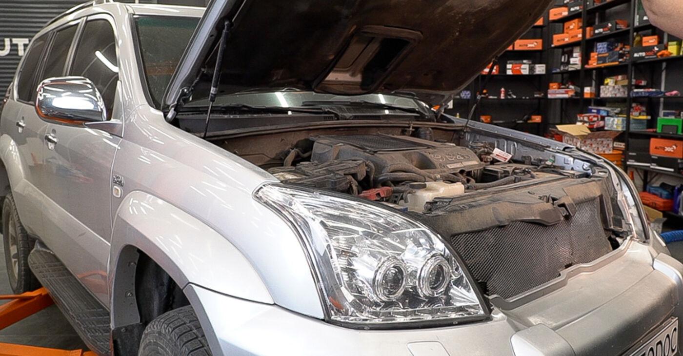 Kā nomainīt Degvielas filtrs Toyota Prado J120 1995 - bezmaksas PDF un video rokasgrāmatas