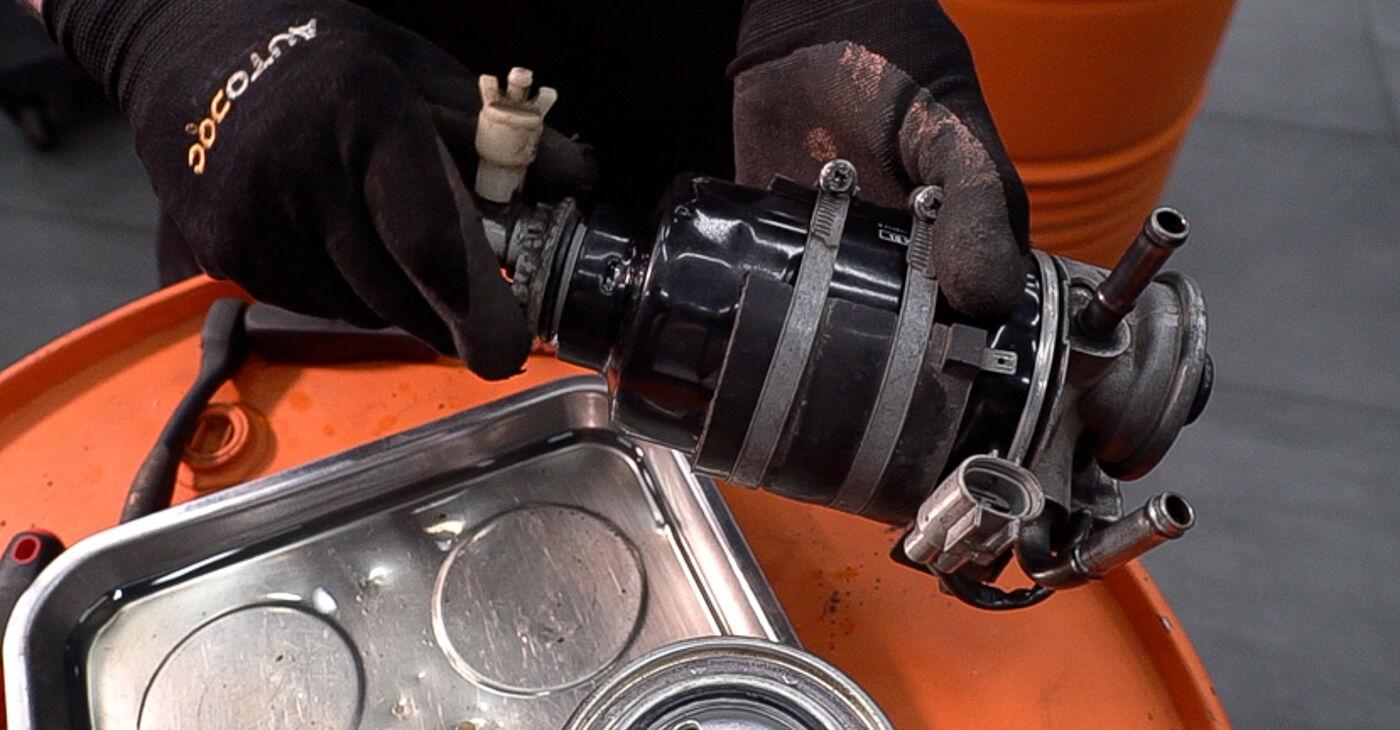 Cik ilgu laiku aizņem nomaiņa: Toyota Prado J120 2003 Degvielas filtrs - informatīva PDF rokasgrāmata