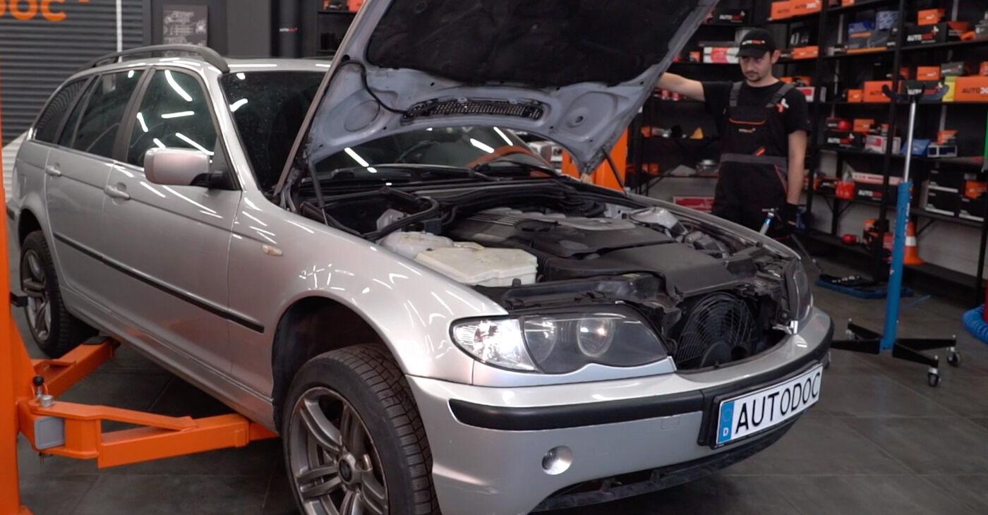 BMW 3 Touring (E46) 320i 2.2 2000 Stabilizatora Bukses nomaiņa: bezmaksas remonta rokasgrāmatas