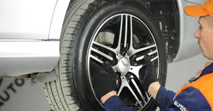 Changing of Brake Pads on Mercedes W211 2002 won't be an issue if you follow this illustrated step-by-step guide