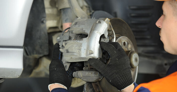 Replacing Brake Pads on Mercedes W211 2004 E 220 CDI 2.2 (211.006) by yourself
