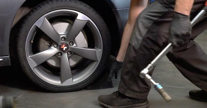 Austauschen Anleitung Spurstangenkopf am Audi A4 B8 Limousine 2008 2.0 TDI selbst