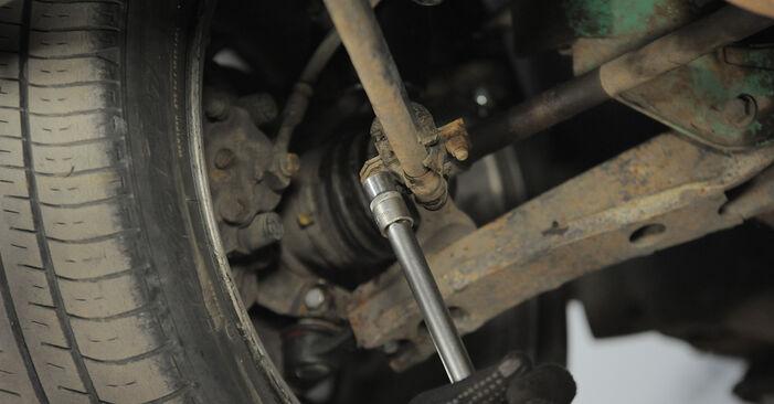 Stabigummis Opel Corsa S93 1.4 i (F08, F68, M68) 1995 wechseln: Kostenlose Reparaturhandbücher