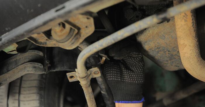 Wie schwer ist es, selbst zu reparieren: Stabigummis Opel Corsa S93 1.4 i 16V (F08, F68, M68) 1999 Tausch - Downloaden Sie sich illustrierte Anleitungen