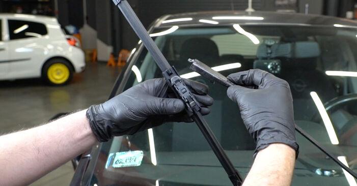 Svojpomocná výmena Stieracia liżta na OPEL Corsa D Hatchback (S07) 1.0 (L08, L68) 2009