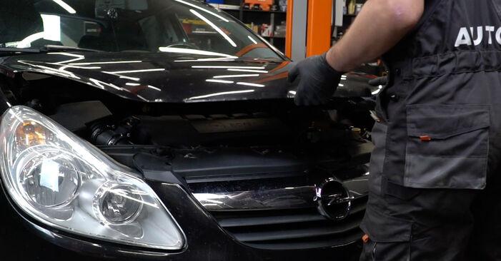 Hvordan man udskifter Gløderør på Opel Corsa D 2006 - gratis PDF og video manualer