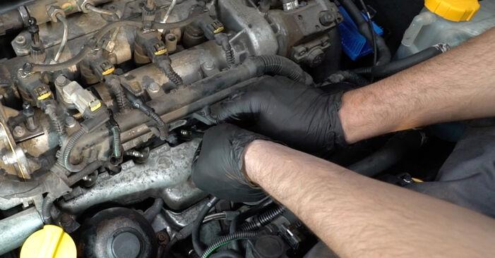Trin-for-trin anbefalinger for gør-det-selv udskiftning på Opel Corsa D 2010 1.3 CDTI (L08, L68) Gløderør
