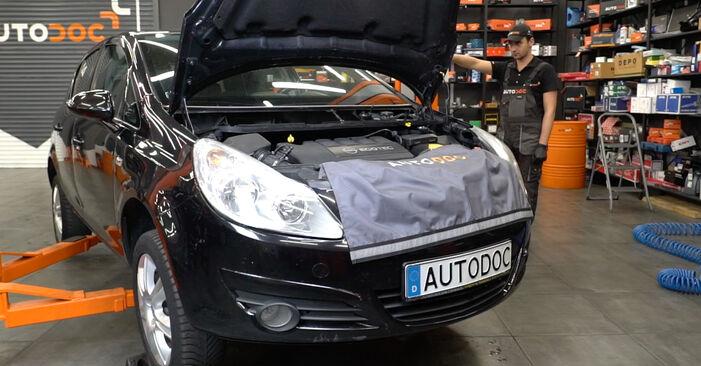 Смяна на Opel Corsa D 1.2 (L08, L68) 2008 Свързваща щанга: безплатни наръчници за ремонт