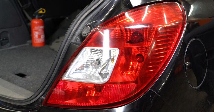 Wie Heckleuchte Opel Corsa D 1.3 CDTI (L08, L68) 2006 tauschen - Kostenlose PDF- und Videoanleitungen
