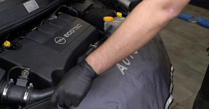 Så byter du OPEL Corsa D Hatchback (S07) 1.3 CDTI (L08, L68) 2007 Fjädrar – manualer och videoguider att följa steg för steg