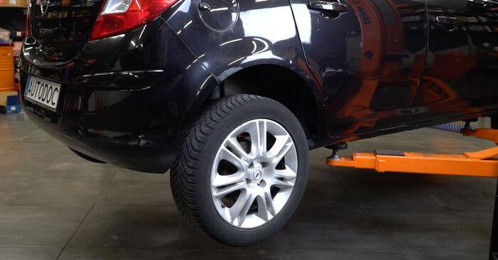 Opel Corsa D 1.2 (L08, L68) 2008 Ammortizzatori sostituzione: manuali dell'autofficina