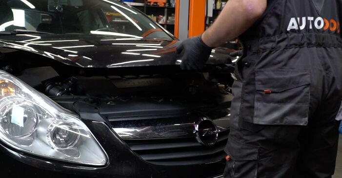 Hvordan man udskifter Forlygter på Opel Corsa D 2006 - gratis PDF og video manualer