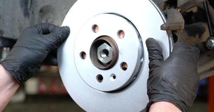 Cómo reemplazar Discos de Freno en un SEAT Ibiza III Hatchback (6L) 1.9 TDI 2003 - manuales paso a paso y guías en video